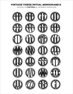 Vintage  monograms.  Check out the MANY other vintage freebies at Justsomethingimade.com