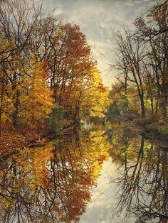 Framed Autumn's Mirror Print