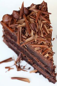 Chocolate cake. Click for recipe #chocolate #sweet #treat #dark #rich #love #passion #recipe #cake