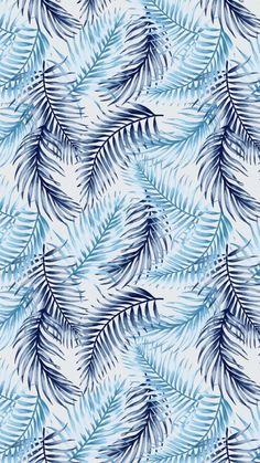Seamless exotic pattern with tropical leaves on a white background. Cute Wallpaper Backgrounds, Blue Wallpapers, Flower Wallpaper, Screen Wallpaper, Pattern Wallpaper, Phone Wallpapers, Wallpaper Quotes, Iphone Background Wallpaper, Aesthetic Iphone Wallpaper