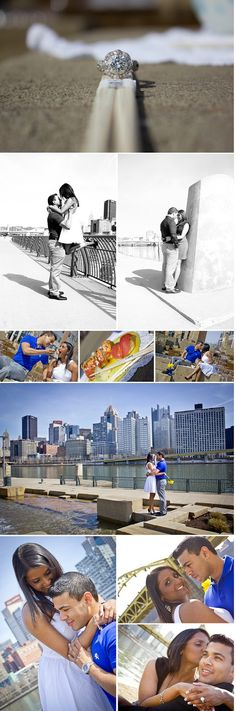 Pittsburgh Engagement, North Shore Engagement Photography, Pittsburgh Wedding Photographer, Engagement Poses, Bridge Engagement Pictures, Sushi Engagement, Unique Engagement ideas, Engagement Rings
