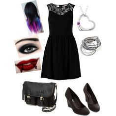 A fashion look from August 2014 featuring ONLY dresses and Steve Madden messenger bags. Browse and shop related looks.