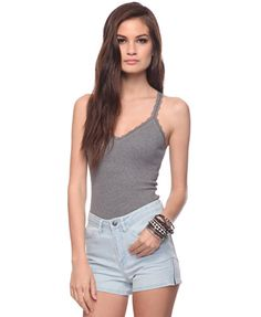 Scalloped Lace Racerback Tank | FOREVER 21 - 2015036900