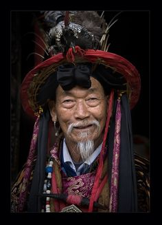 Naxi-chief - foto gemaakt in Yunnan, China