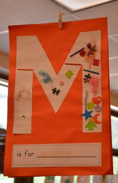 Get kids to paint or pastel paper then draw on their initial and get kids to cut out