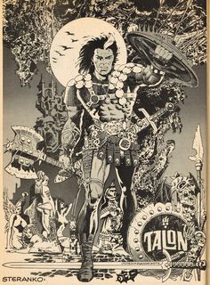 Cap'n's Comics: Talon Poster by Jim Steranko
