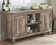 Sideboards, Inspiring Buffet Tv Stand Crossmill Rustic Tv Stands Pallet Tv And Laminate Flooring And Beige Rug And Crisp White Painted Wall And Wine Bottle: extraordinary buffet tv stand
