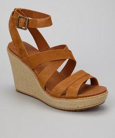 5bdff97e3668 Burnt Orange Danforth Wedge Sandal