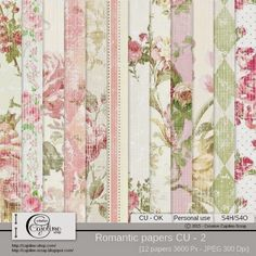 CAJOLINE-SCRAP: Romantic papers CU - 2