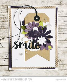 Stitched Flowers Die-namics, Sending Hugs Die-namics, Stitched Circle Scallop Edge Frames Die-namics, Traditional Tags STAX Die-namics, Fishtail Flags STAX Die-namics - Inge Groot  #mftstamps