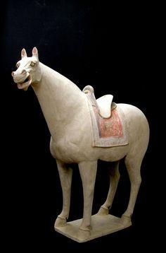 Large Terracotta Saddled Horse, China, Tang Dynasty (618-907)
