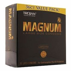 Condoms and Contraceptives: Trojan Magnum Lubricated Latex Condoms, Large Size 36 Ea (Pack Of 6) BUY IT NOW ONLY: $92.37