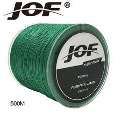 JOF Brand 500M PE Braided Fishing Line 4 stands 4LB-150LB Multifilament Fishing Line free shipping -- Nazhmite na izobrazheniye dlya boleye podrobnoy informatsii.