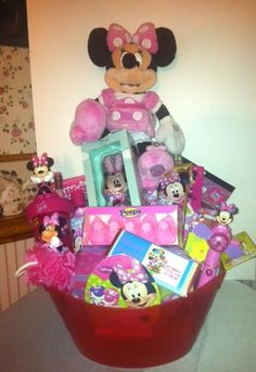 Minnie mouse easter basket my crafts pinterest easter disney minnie mouse easter basket by cacbaskets on etsy 7999 negle Images