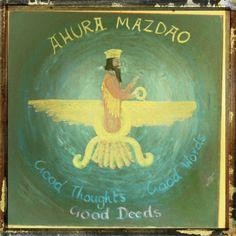 Waldorf ~ 5th grade ~ Ancient Persia ~ Ahura Mazdao ~ chalkboard drawing