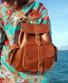 Leather Backpack Leather rucksack Handndmade by SandalsAgora Mochilas 5f4b755dae7