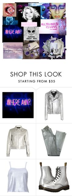 """""""Where Am I?"""" by crazywriterfangirl90000 ❤ liked on Polyvore featuring Yves Saint Laurent, Goldsign, Dr. Martens, OC and aliens"""