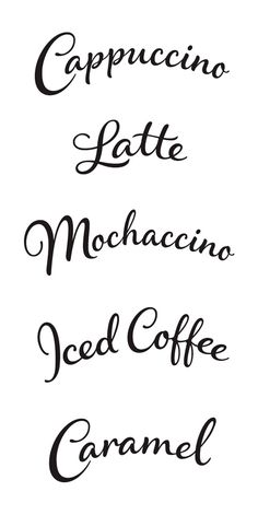 Moccona Coffee - Rob Clarke Type Design & Lettering