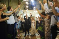 Sparkler exit from a Miami wedding. Photograph by Michelle Turner. Wedding Send Off, Wedding Bells, Wedding Day, Wedding Flowers, Wedding Images, Wedding Styles, Old World Wedding, Florida, Coconut Grove