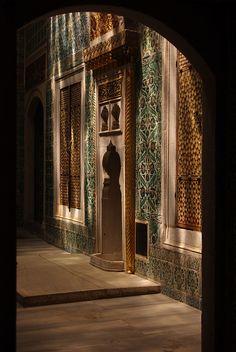 harem, topkapi palace, istanbul, turkey #islamicarchitecture