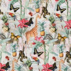Jungle walk trikå Walking In The Jungle, Little Darlings, Chevron, Fabrics, Separate, Composition, Cotton, Tricot, Tejidos