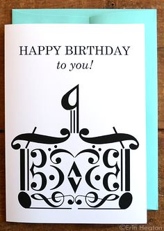Fun card for a musician! | MUSIC NOTE birthday card, $4