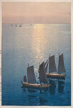吉田博 《光る海》 個人蔵