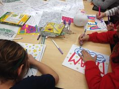 Coloring Sheets, DIY Placemats, Service Learning Project