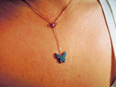 butterfly necklace - turquoise jewelry - Christmas gifts - children gift - wife - teen girl gift - girlfriend gift - coworker gift - mom by ebrukjewelry on Etsy