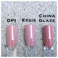 OPI Tickle My France-y ; Essie Lady Like ; China Glaze Dress Me Up