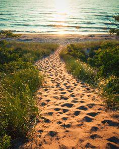 Path to Lake Michigan