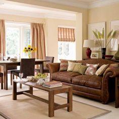 brown/cream living room