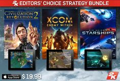 2K has announced the arrival of the 2K Editors' Choice Strategy Bundle on the #AppStore