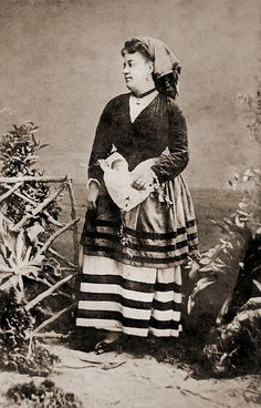 "Mexican Lady (Angela Peralta) by ookami_dou, via Flickr; from an 1860's album of Mexican occupations made by the studio ""Cruces y Campa"" in the 1860s."