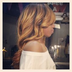Custom ombre sewin hair extensions