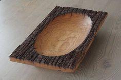 Rustic bowl Oak bowl Weathered oak bowl Hand carved bowl