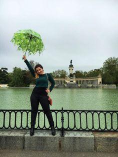 green umbrella, El Retiro, Madrid