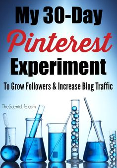 My 30-Day Pinterest Experiment To Grow Followers and Increase Blog Traffic | The Scenic Life