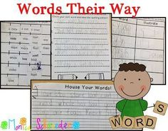 Great free sheets to go with Words their Way