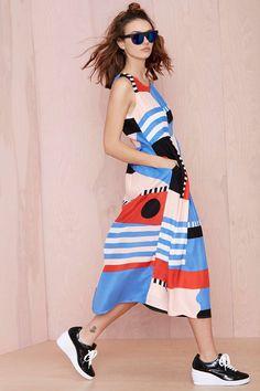 Dusen Dusen Take Shapes Silk Dress - Midi Maxi Silk Dress, The Dress, Silk Skirt, Fashion Prints, Fashion Design, Style Fashion, Lookbook, Mode Inspiration, Mode Style
