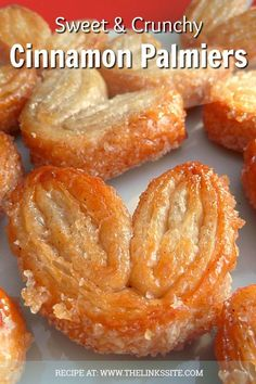 Easy Pastries You Can Enjoy This Holiday These cinnamon palmiers don't last long at my house, they are so hard to resist! These cinnamon palmiers don't last long at my house, they are so hard to resist! Puff Pastry Desserts, Puff Pastry Recipes, Pastries Recipes, Phyllo Dough Recipes, Baking Recipes, Cookie Recipes, Dessert Recipes, Cuban Desserts, Potluck Desserts
