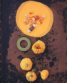 pumpkin candy pouches