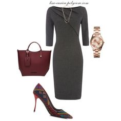 A fashion look from November 2014 featuring Linea dresses, Nicholas Kirkwood pumps and Michael Kors watches. Browse and shop related looks.