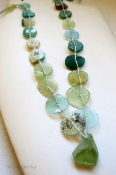 ROMAN GLASS BEADS . Strand No. 2 . antiquities . by LuckySpotShop