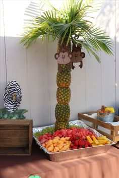 Baby shower boy jungle theme birthday party ideas new ideas Safari Theme Birthday, Jungle Theme Parties, Wild One Birthday Party, Baby Boy 1st Birthday, Animal Birthday, Boy Birthday Parties, Birthday Ideas, Zoo Birthday, Jungle Party Decorations