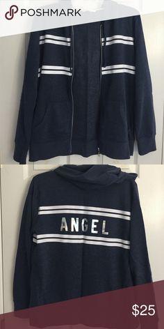 Victoria's Secret Hoodie Navy blue, zip-up hoodie. Victoria's Secret Tops Sweatshirts & Hoodies