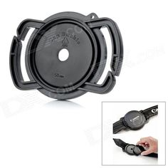 Universal 52mm / 58mm / 67mm Lens Cap Holder Buckle for SLR Camera - Black