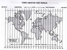 World Time Zones  Time zones Worksheets and Geography