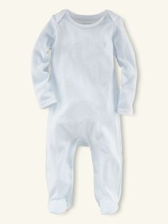 Pearl Blue Stripe Coverall - Layette One-Pieces - RalphLauren.com- Coming home outfit?