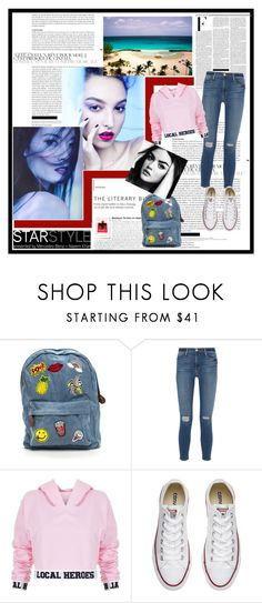 """""""Untitled #172"""" by hesterstan ❤ liked on Polyvore featuring Frame Denim, Local Heroes, Converse and Nicki Minaj"""